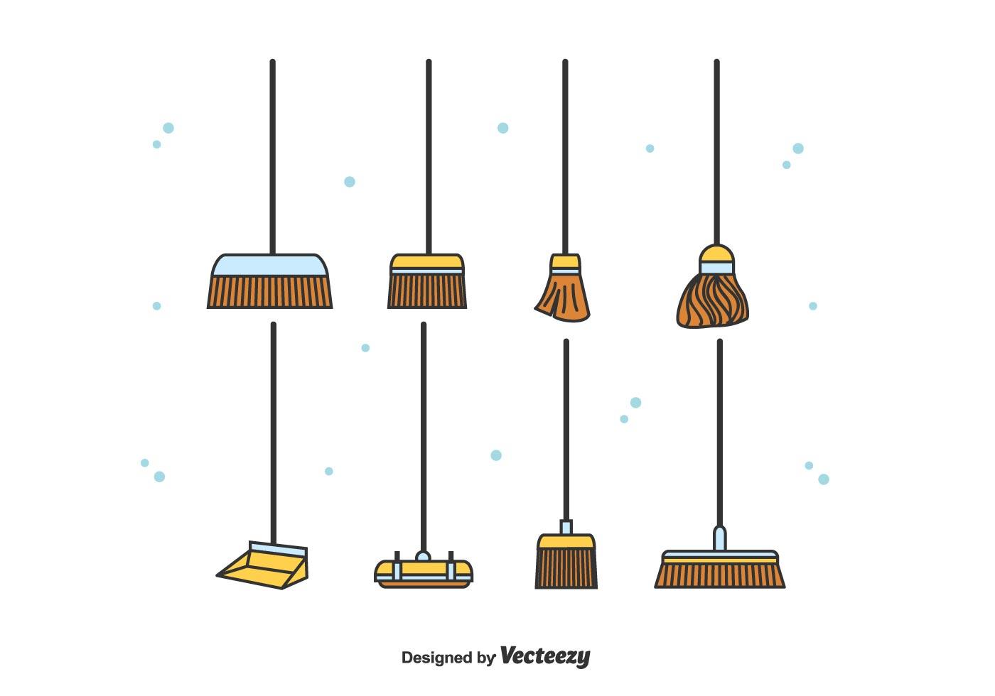 Broom Free Vector Art