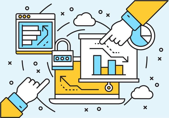 Gratis linjära digitala marknadsföringselement