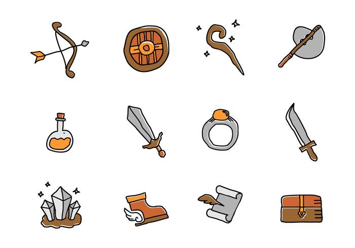 RPG Game Element Vectors