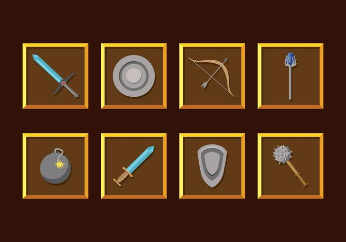 RPG Game Weapons Vector