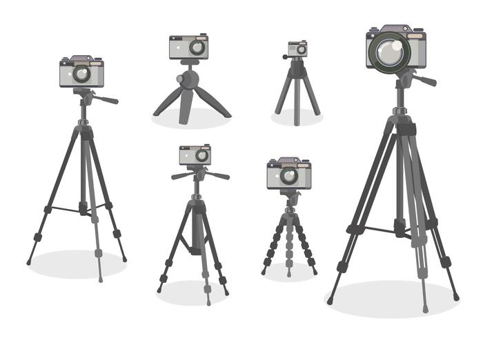 Camera Tripod Vector Flat Design style