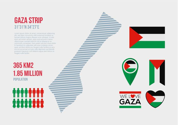 Free Gaza Strip Vector Infographic