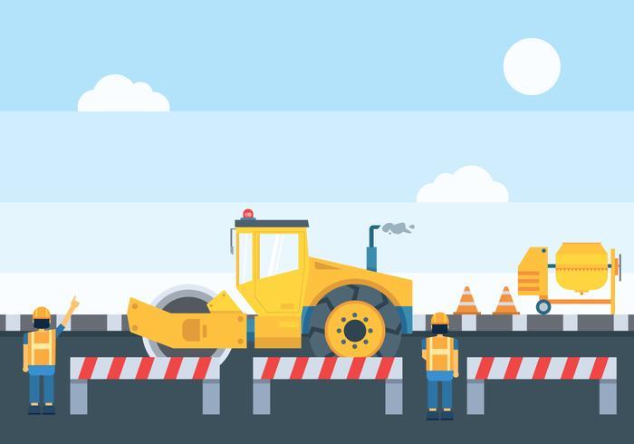 Ilustración de construcción de carreteras