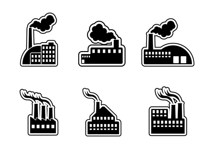 Smoke Stack Icon Vector Set