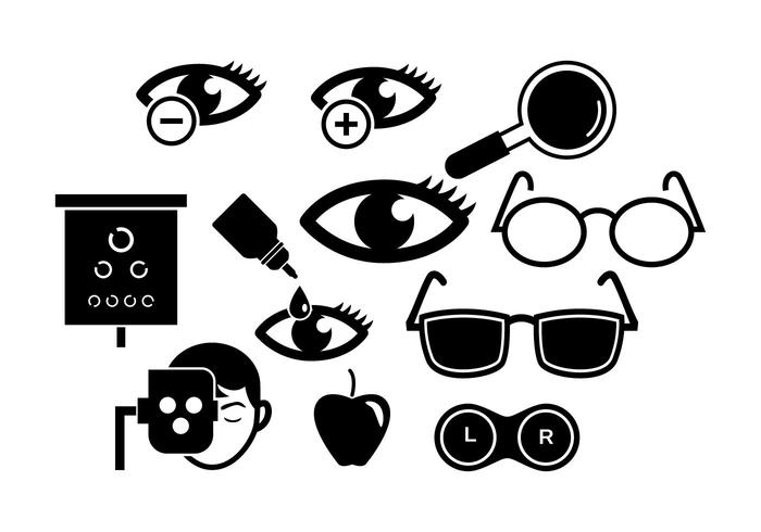 Free Eye Doctor Silhouette Icon Vektor