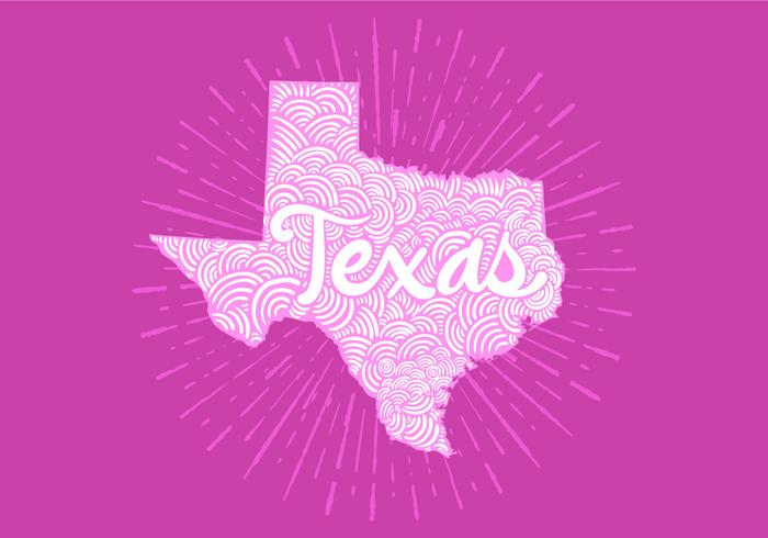 Texas state lettering vector