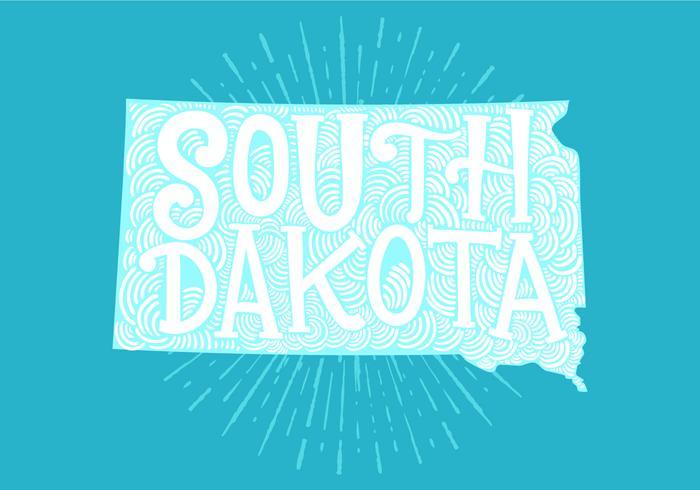 South Dakota state lettering