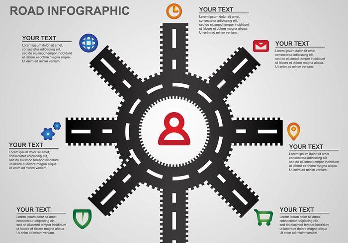 Hoja de ruta Infographic Vector