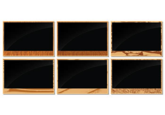 Photo Frames with Wood Grain Edges
