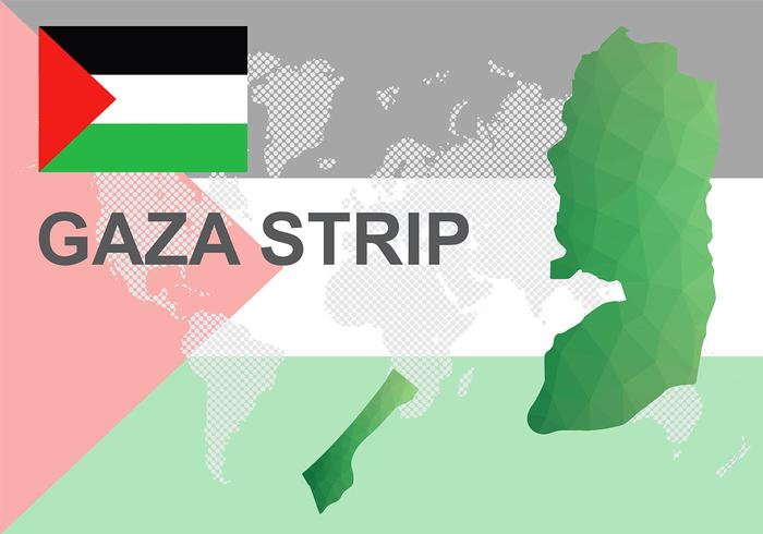 Gaza Map Background Vector