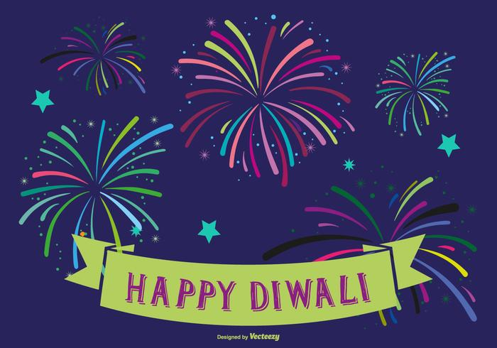 Colorful Happy Diwali Illustration