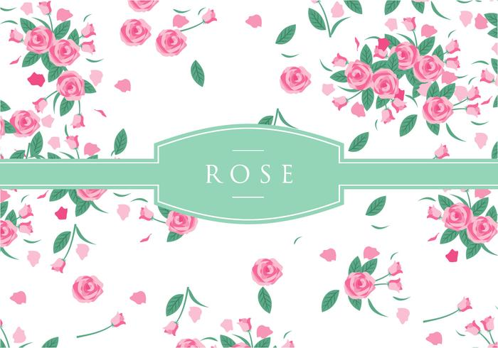 Pink Rose Disty Pattern Gratis Vector