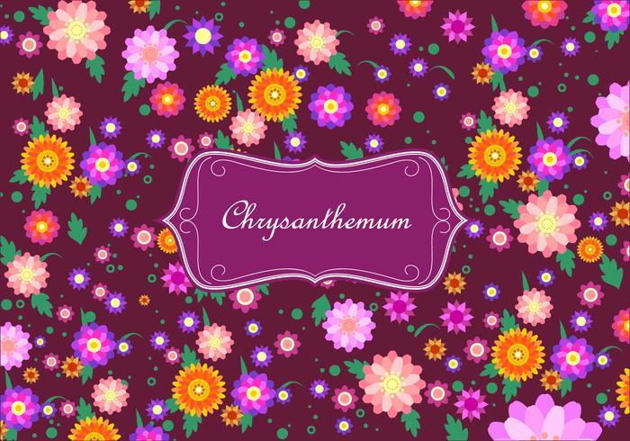 Chrysanthemum Disty Pattern Vector