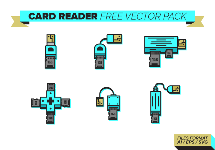 Card Reader Free Vector Pack