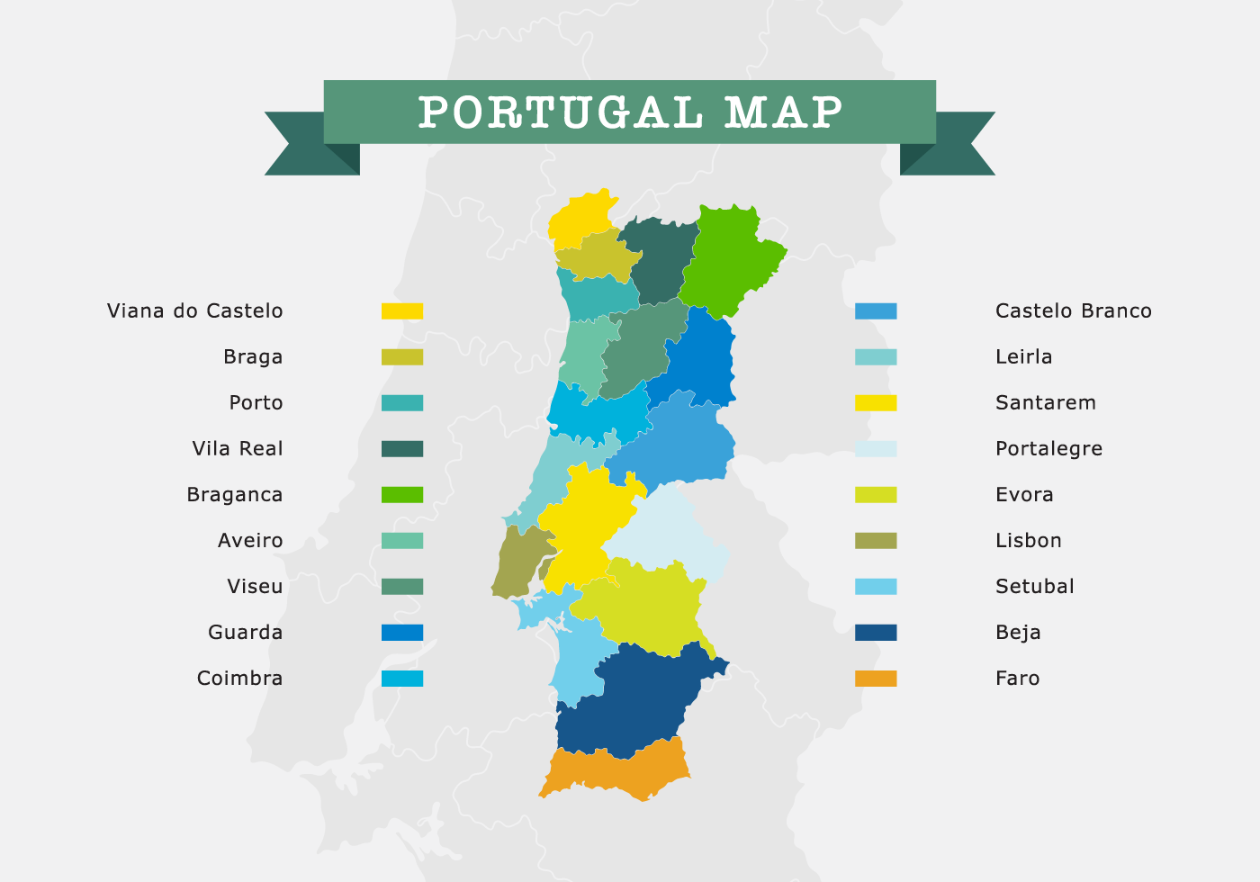 Portugal Map Download Free Vector Art Stock Graphics Images - Portugal map png