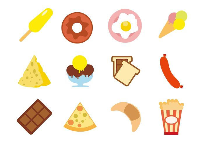 Free Snacks Appetizers Icons Vector