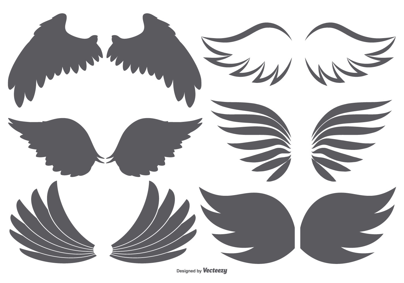 vector wings collection download free vector art  stock angel wing vector free angel wing vector free download