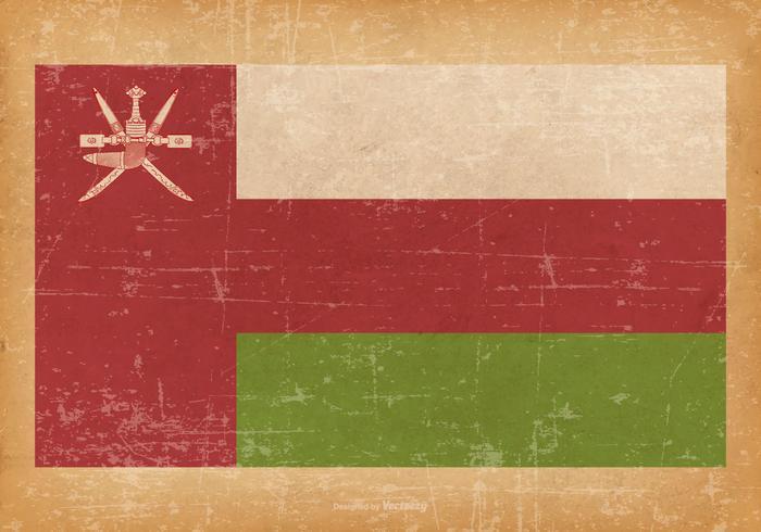 Grunge Bandera de Omán