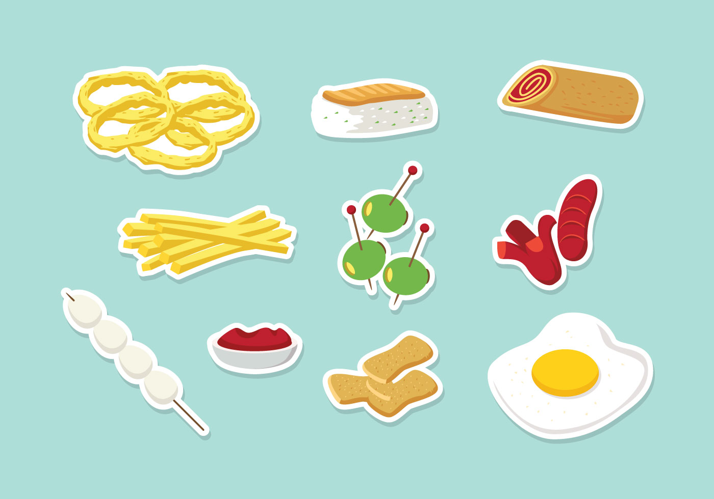 Appetizers vector download free vector art stock for Vector canape download