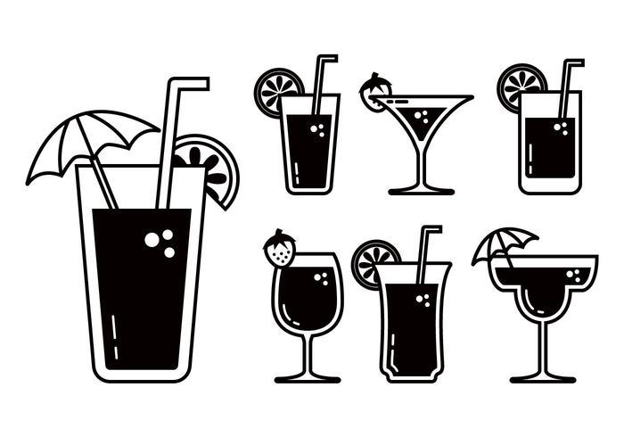 Mocktail vector set