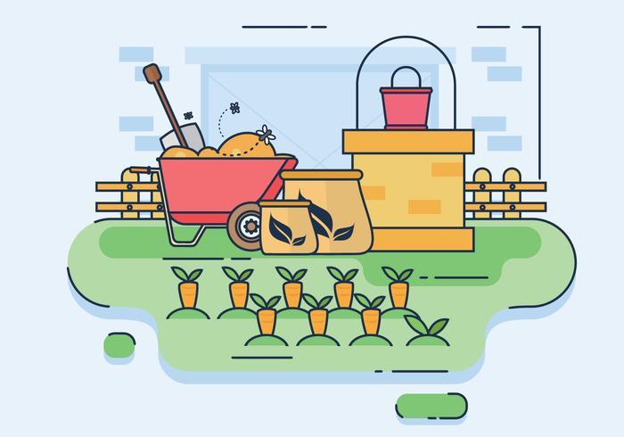 Compost Procesamiento Pasos Ilustración Vectorial