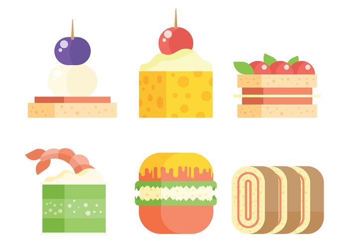 Appetizers Vector Icons