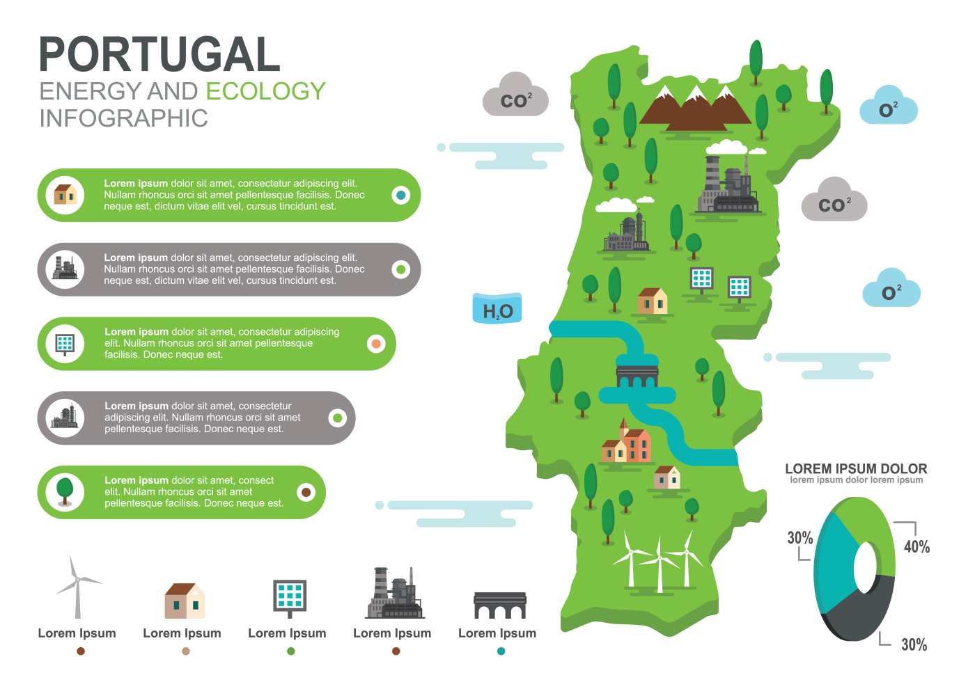 Portugal Map Infographic Download Free Vectors Clipart