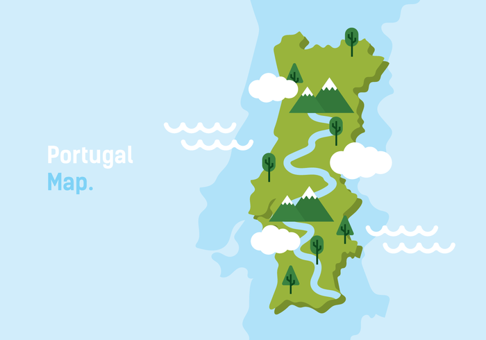 Portugal Map Vector Illustration