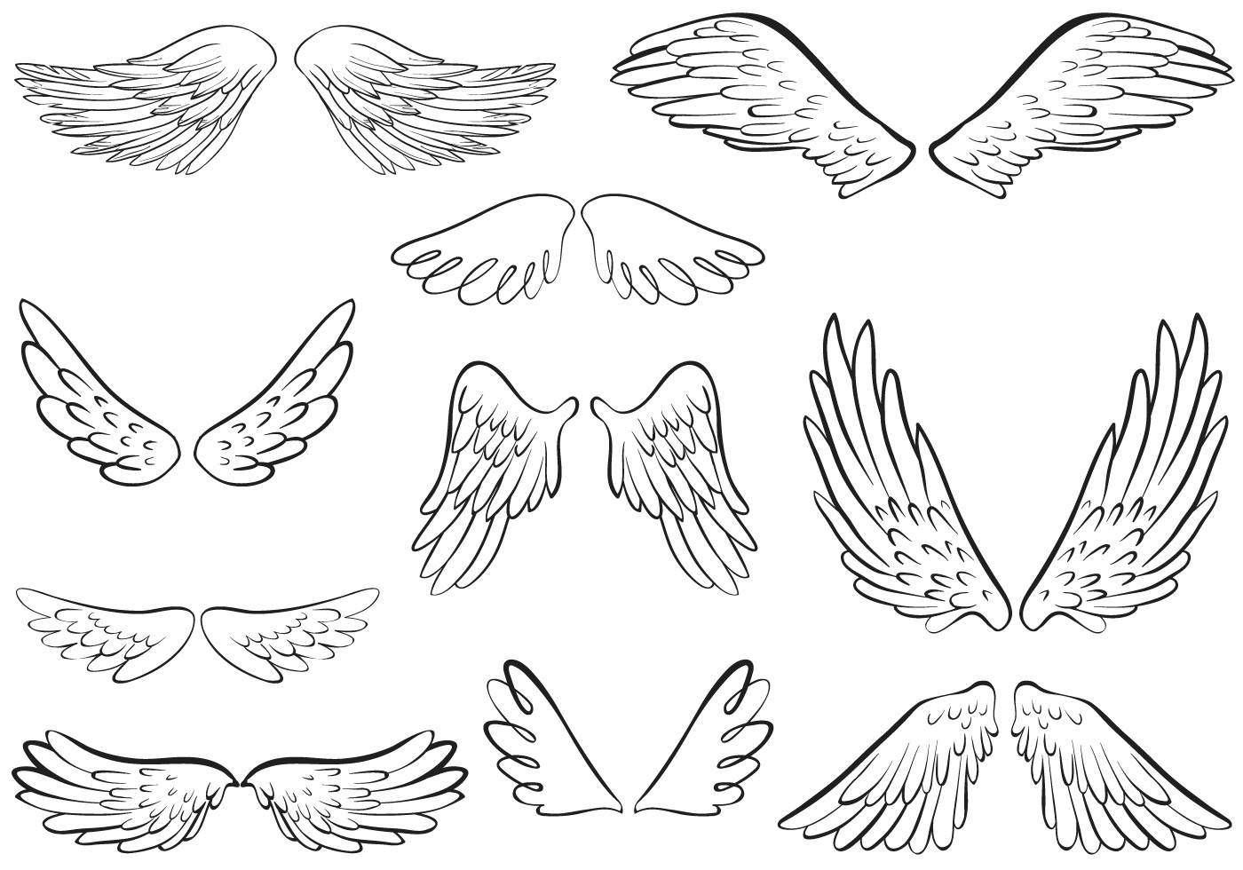 Dessin Ange Realiste vecteurs libres d'anges d'ange - telecharger vectoriel