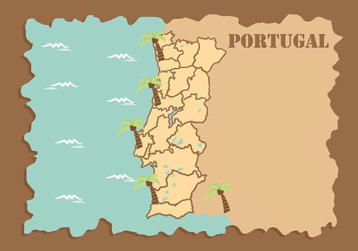 Vettore del fondo della mappa del Portogallo