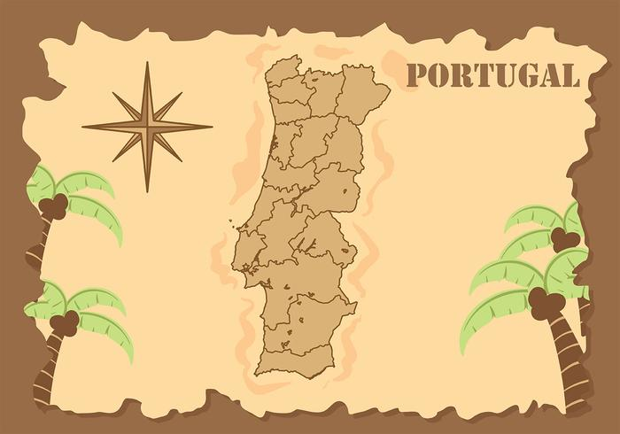 Vector de fundo do mapa de Portugal