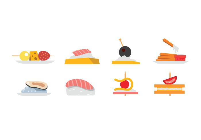 Appetizers and snacks vector