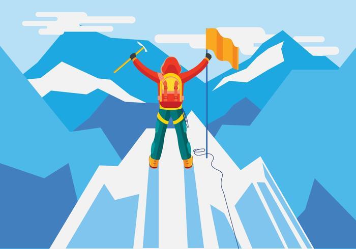 Alpinist koncept vision vektor