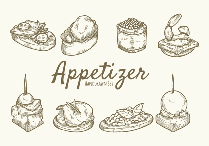 Hand Drawn Food Appetizer