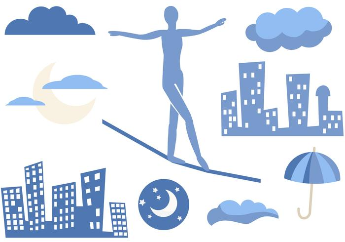 Free Tightrope in the City Vectors