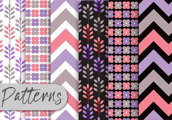 Soft Purple Pattern Set