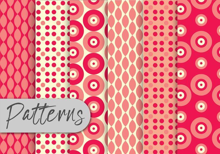 Red Geometric Pattern Set