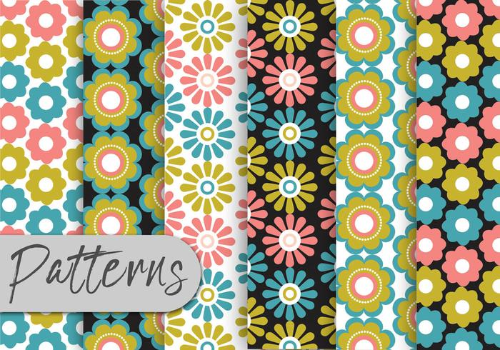 Colorful Floral Pattern Set