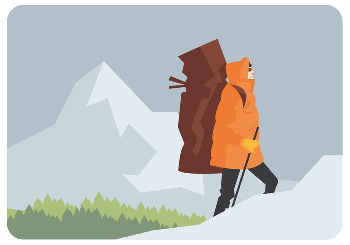 Alpinista ilustración vectorial