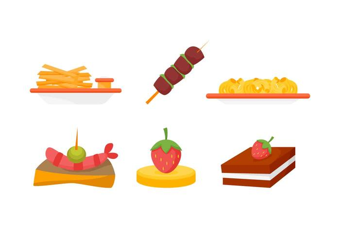 Free outstanding appetizers vectors download free vector for Canape vector download