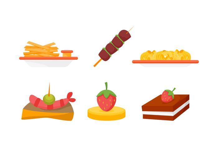 Free Outstanding Appetizers Vectors