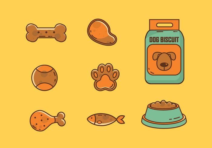 Dog Biscuit Vector Flat Collection
