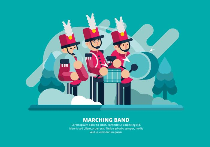 Marching Band Illustratie vector