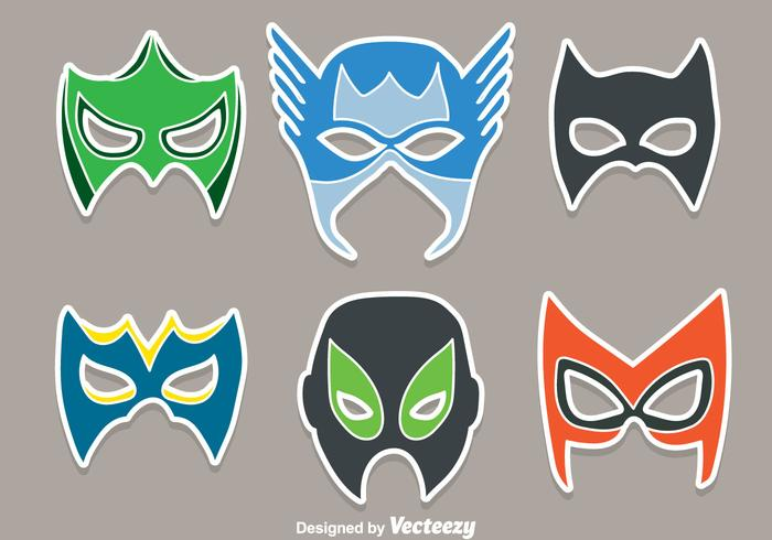 Super Hero Mask Vectors