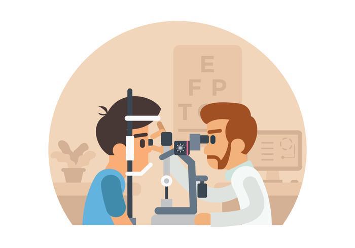 Ilustración de la prueba del ojo