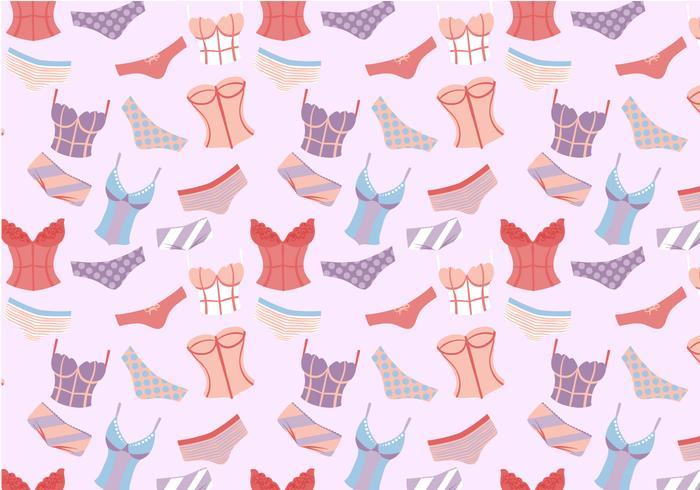 Free Woman's Underwear Pattern Vectors