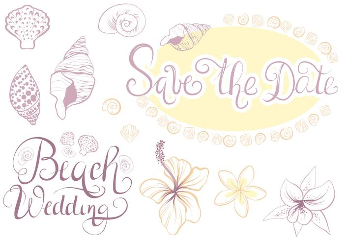 Free Beach Wedding 2 Vectors