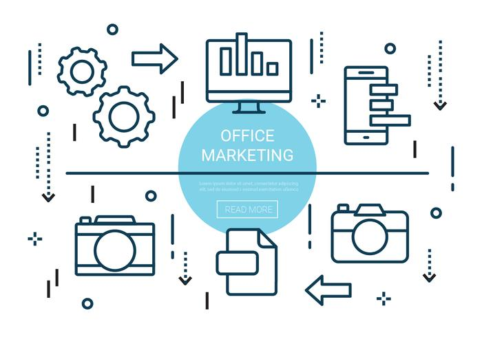 Free Linear Office Marketing Elements vector