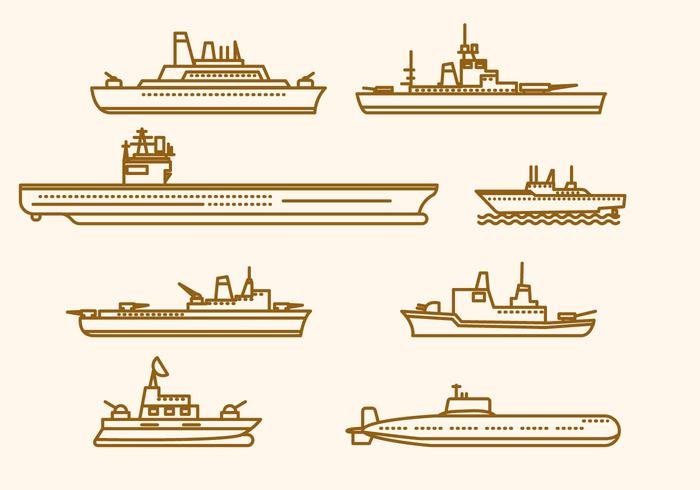 Platt marina fartygsvektorer