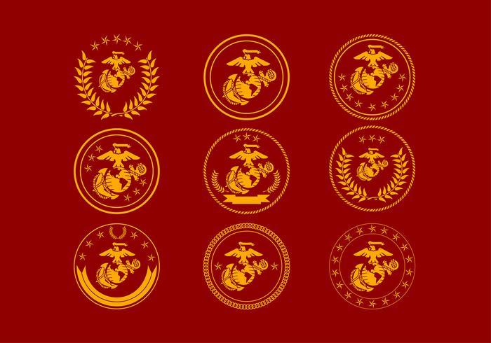 Logo libero del distintivo di USMC Vettore